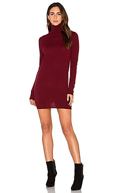 Oscar Mini Sweater Dress en Burnt Scarlet