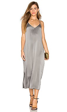 Anika Slip Dress in Gunmetal