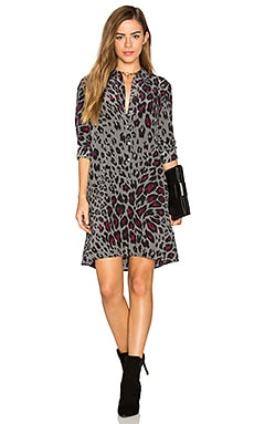 Clean Lucida Leopard Print Dress in Gunmetal