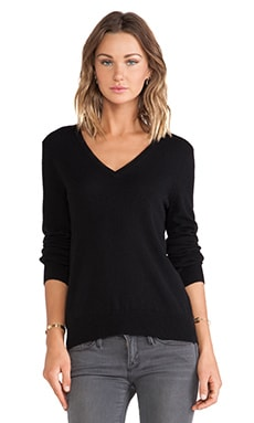 Cecile V Neck Sweater in Black