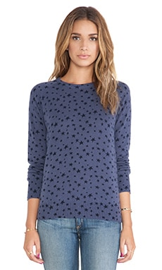 Equipment Sloane Star Spray Crewneck Sweater in Crown Blue Multi