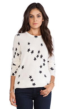 Equipment Sloan Falling Star Crew Neck in Peacoat & Ivory