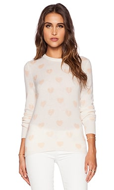 Equipment Shane Broken Hearts Crew Neck in Ivory Multi