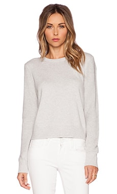 Equipment Shirley Crop Sweater in Light Heather Grey