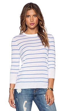 Equipment Agnes Seaworthy Stripe Sweater in Ivory & Amparo