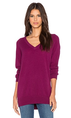 Equipment Asher V Neck Cashmere Sweater in Malbec