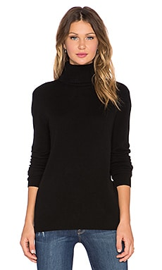 Equipment Oscar Turtleneck Cashmere Sweater in Black
