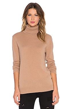 Equipment Oscar Turtleneck Cashmere Sweater in Camel