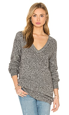Asher V Neck Sweater in Heather Grey