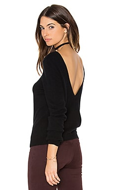Calais V Back Sweater in Black