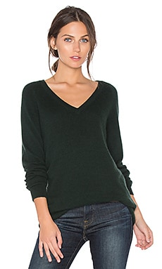 Asher V Neck Sweater in Scarab