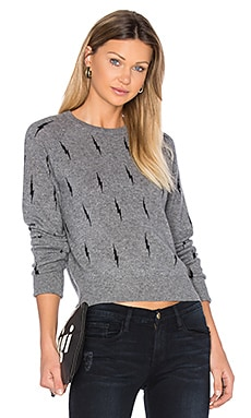 Kate Moss for Equipment Ryder Crew Neck Sweater in Heather Grey & Black