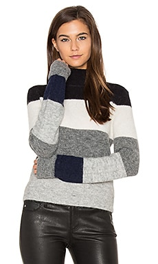 Ren Striped Sweater in Heather Grey Stripe