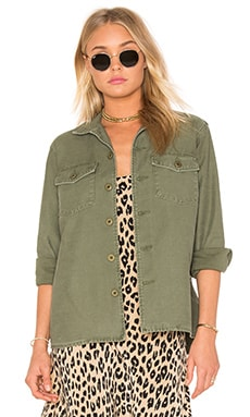 Equipment Kate Moss for Equipment Major Shirt Jacket in Army