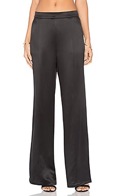 Equipment Beckett Silk Charmeuse Pant in True Black