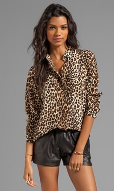 a7d79cd0190a5a Equipment Underground Leopard Printed Slim Signature Blouse in Natural