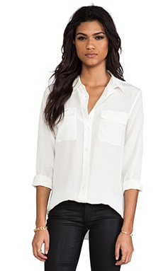 Slim Signature Blouse in Nature White