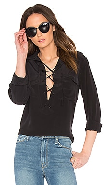Equipment Knox Blouse in True Black