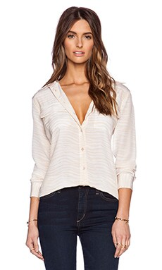 Equipment Silm Signature Bengal Blouse in Nude