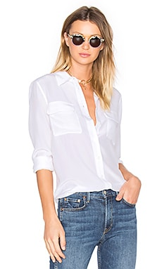 Slim Signature Blouse en Bright White