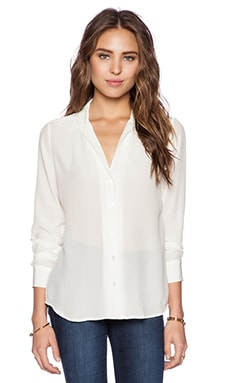 Adalyn Vintage Wash Blouse en Blanc