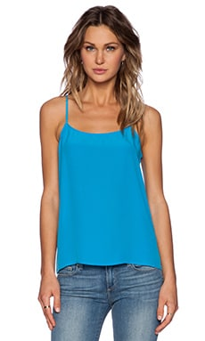 Equipment Cara Vintage Wash Cami in Fountain Blue
