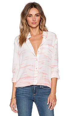 Equipment Reese Linear Tie Dye Blouse in Desert Rose