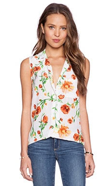 Equipment Sleeveless Keira Top in Sunkissed
