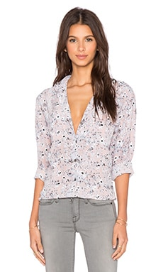 Equipment Wisteria Signature Button Up Top in Blue Multi