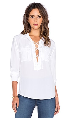Equipment Knox Blouse in White