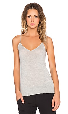 Equipment Layla Cashmere Knit Tank in Light Heather Grey