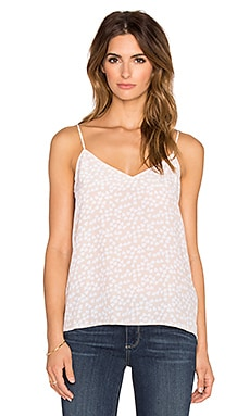Equipment Layla Endless Heart Print Cami in Nude & Bright White