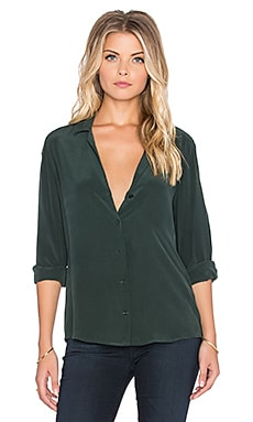 Equipment Adalyn Super Vintage Washed Button Up in Scarab