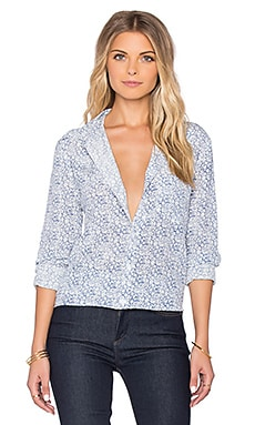 Equipment Reese Botanical Button Up in Bright White Multi