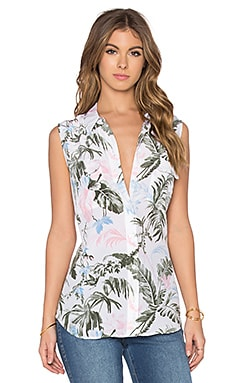Sleeveless Slim Signature Afternoon Luau Tank