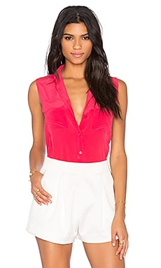 Equipment Sleeveless Slim Signature Blouse in Rosetta