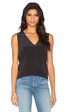 Otis Sleeveless Blouse en Noir