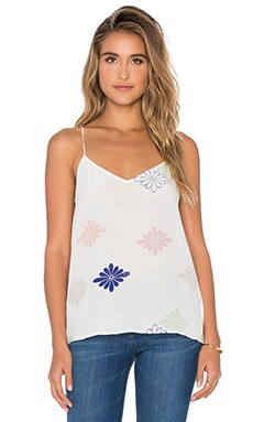 Equipment Layla Floral Cami in Bright White Multi