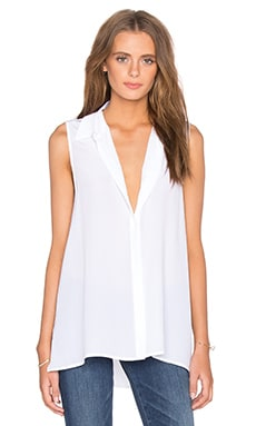 Milla Sleeveless Blouse in Bright White