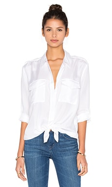 Equipment Major Blouse in Bright White
