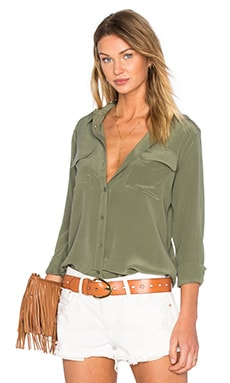 Slim Signature Blouse in Army Jacket