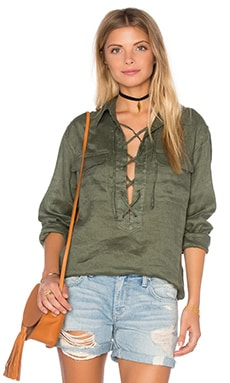 Equipment Knox Long Sleeve Blouse en Vert Militaire