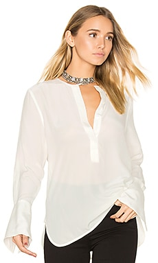 Kenley Silk Blouse in Bright White