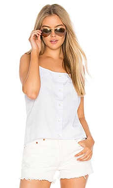 Perrin Striped Cami in Bright White & Brisk Blue