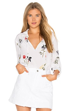 Bristol Floral Blouse in Bright White Multi