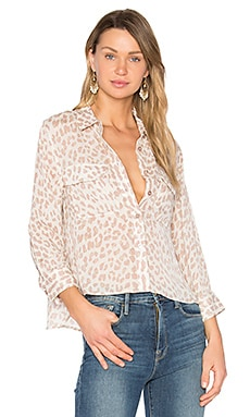 Cropped Giraffe Signature Button Up in Amethyst Fog Multi