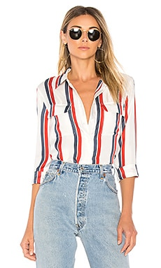 Slim Signature Stripe Button Up