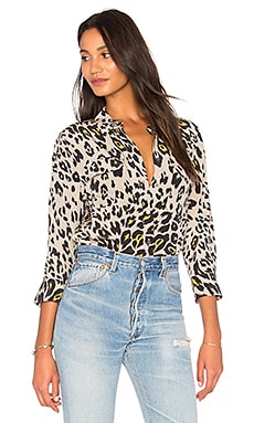 Cropped Signature Silk Blouse