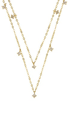 Double Shimmering Star Necklace ERTH $98