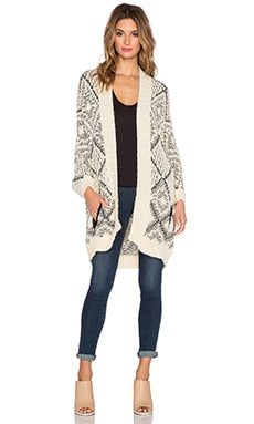 Essentiel Kersten Cardigan in Cream & Black